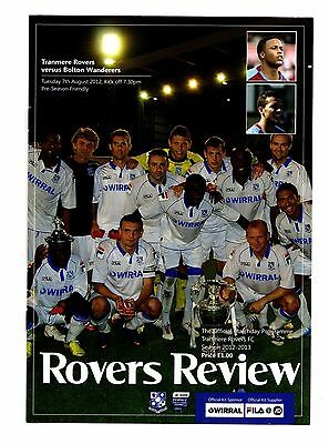 2012 Tranmere Rovers v Bolton Wanderers Friendly   POST FREE