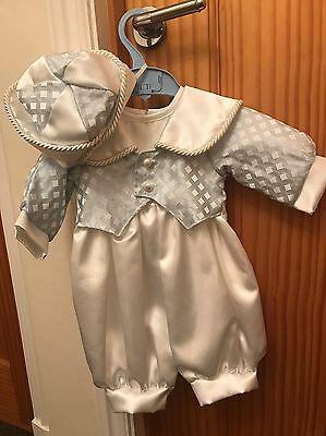 Baby Boys Christening Romper Tails Outfit Age 0-6 Months