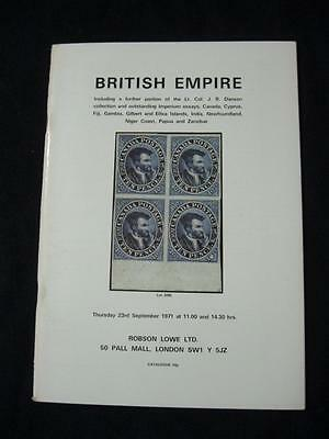 ROBSON LOWE AUCTION CATALOGUE 1971 BRITISH EMPIRE with DANSON
