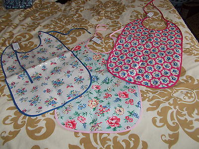 Three Handmade Cath Kidston Oilcloth Adult/Special Needs Extra Long Bibs