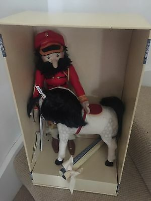 Steiff Felt Doll And Horse Hungarian Replica 1912. New In Box.
