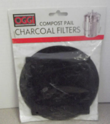 Oggi Stainless Steel Compost Pail Charcoal Filters NWOT New 7321 2 Piece Set