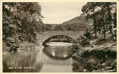 p1107 Brig o' Turk bridge, Trossachs, Scotland postcard