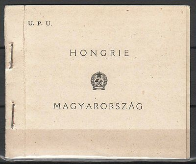 Hungary 1949. UPU complete stamp-booklet MNH (**) Mi.: 1056-1058 D / 210 EUR