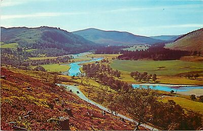 p1227 Valley of the Dee above Braemar, Scotland postcard