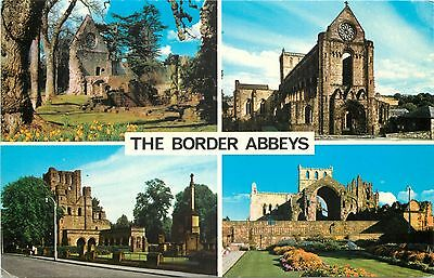 p1238 Border Abbeys, Scotland postcard