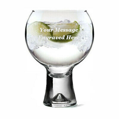 Personalised Thick Stem Gin Glass - 410ml Engraved Gift