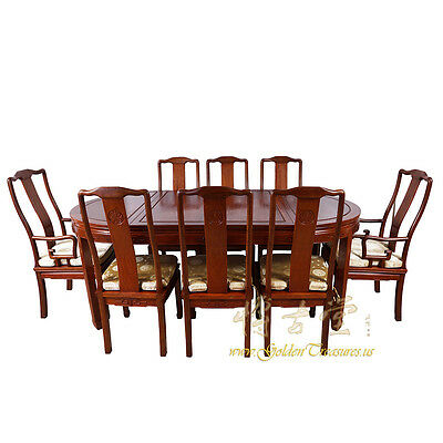 Chinese Antique Rosewood Dining Table w/8 Chairs set 16LP56