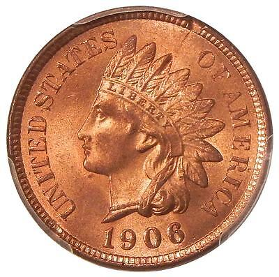 1906 1c PCGS MS-64+ RED ~ NEAR GEM INDIAN CENT
