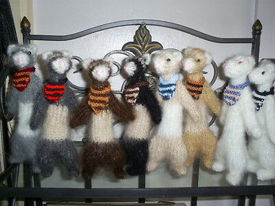 Hand Knitted-MOHAIR* FLUFFY*Champagne  FERRET*