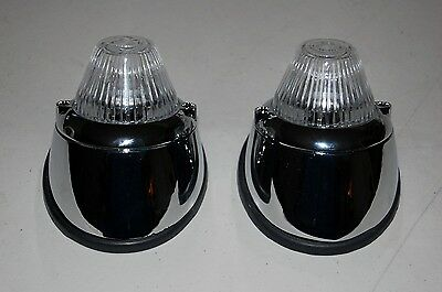 Vw Karmann Ghia Front Turn Signal Lights, Complete Kit, High Quality, New, Clear
