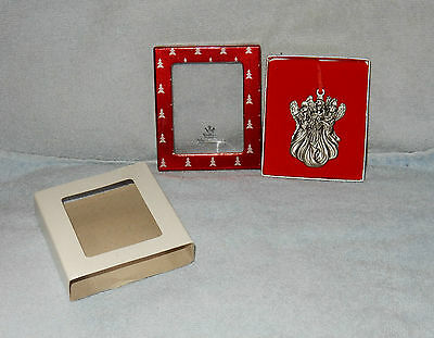 Wallace Silversmiths 3 Angels Pewter Mini Christmas Ornament in Box