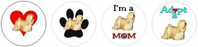 Assorted 252 Lhasa Apso stickers seals labels laser