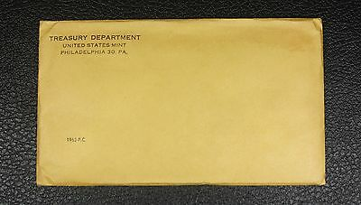 1962 U.S. PROOF SET. The envelope containing the set is sealed/unopened