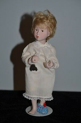 """Norman Rockwell Character Doll SALLY By Mary Moline 10"""" Rumbleseat Dolls"""