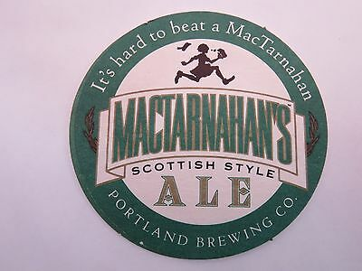 Beer Bar Coaster ~*~ It's Hard to Beat A MacTarnahan Scottish Ale ~ Portland, OR