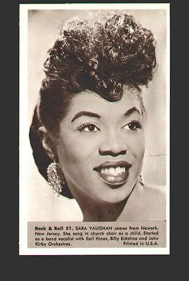 Sara Vaughan MINT photo #51 from the 1959 Rock & Roll Series marketed by NU
