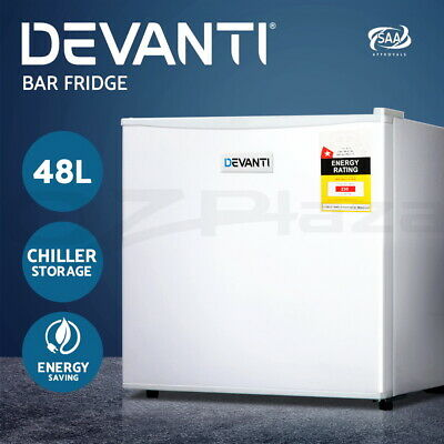 Devanti Portable Electric Mini Bar Fridge Office Refrigerator Cooler Freezer 48L
