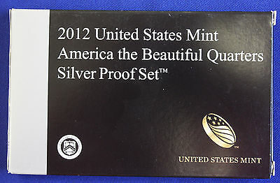 2012-s SILVER. U.S. Mint made America the Beautiful  QUARTERS  proof Set