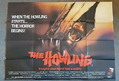 The Howling 1981 Original UK cinema used Quad POSTER 30 X 40 INCHES