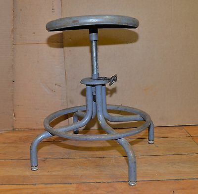 Royal metal drafting stool steam punk industrial collectible bar kitchen chair