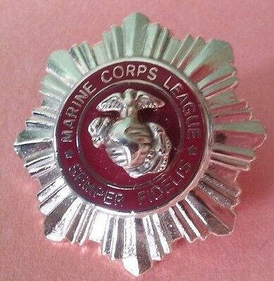 Marine Corps Pin Semper Fidelis Vintage League Pin In Very Nice Condition