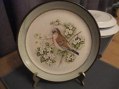 Lovely Purbeck Pottery Collectors Plate Of A Bird