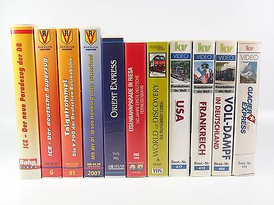 "11x Eisenbahn-Videos VHS: Rio Grande, Atlas, KV Video u.a. ""Cc01"