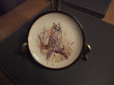 Splendid Purbeck Pottery Wall Plate Of An Owl