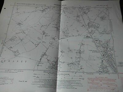 "Manston,( & Raf) Haine,lydden Ramsgate:kent:6"" Scale Os Planner's Map 1936-40's"