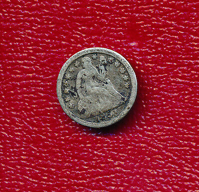 1851 Seated Liberty Silver Dime **nice Circulated Coin** Free Shipping!