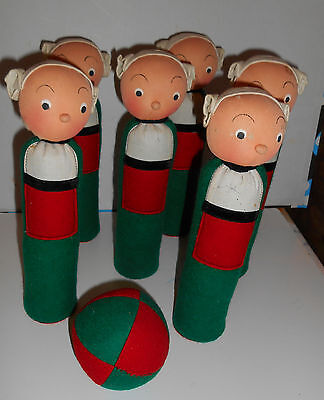 Estate sale RARE**French BECASSINE*comic characters  SKITTLES  GAME  SET  DOLLS