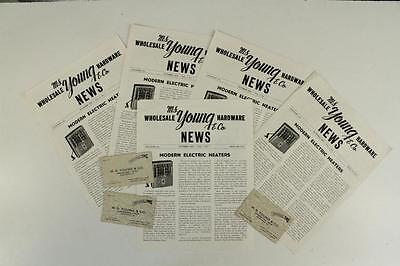 Vintage Advertising Paper MS YOUNG Hardware Allentown PA News & Business Cards