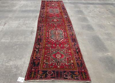 3X11'8 hand knotted tribal Persian Rug Vintage Woolen  Oriental Carpet  16