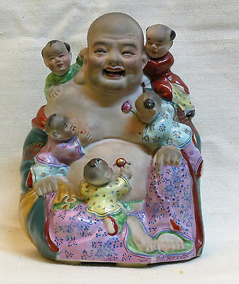Chinese Porcelain Biscuit Of A Smilling Buddha - Nº3 - Marked