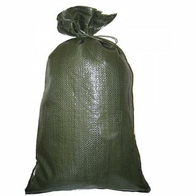 SANDBAGS lOT OF 100 HEAVY DUTY 14 X 26 GREEN SAND BAGS ROUGHLY HOLDS  50# BAG