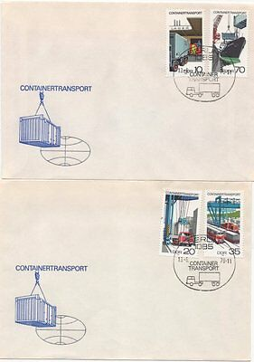 """2326/9 """"Containertransport"""" FDC"""
