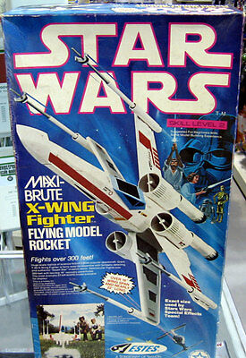 VINTAGE Star Wars MAXI-Brute X-Wing Fighter #1302 Flying Model Rocket RARE
