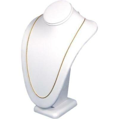 Necklace Bust White Faux Leather Jewelry Display