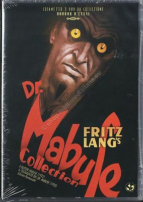 DR. MABUSE COLLECTION (Fritz Lang) COFANETTO 3 DVD NUOVO