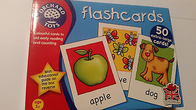 Orchard Toys Flash Cards 50 Extral Large Cards Aid Early Reading And Counting