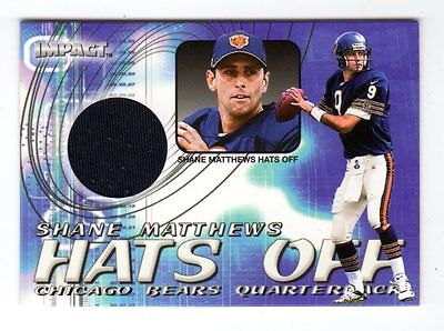Shane Matthews Nfl 2000 Impact Hats Off (Chicago Bears,dolphins,panthers,redskin