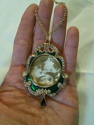 Beautiful Lenox Gold Tone Picture Frame Christmas Ornament Green