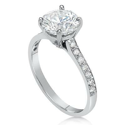 2.5 ct SI1 Round Cut Diamond Solitaire Engagement Ring White Gold 18k 263064