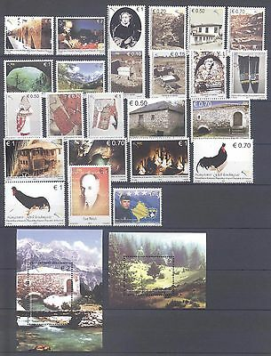 Kosovo 2011 Stamp Year Set Complete With Souvenir Sheets Mnh Very Fine