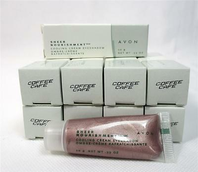 Lot Of 10 Avon Sheer Nourishment Coffee Cafe Cooling Cream Eye Shadow Makeup B-2