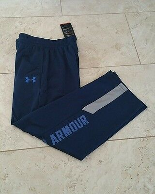 New Under Armour Youth Boys All Season Navy Blue Sweatpants Long Pants X-Large