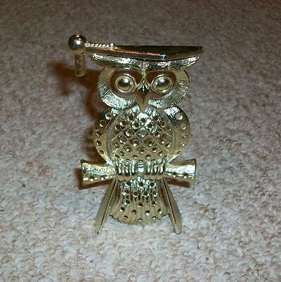 Vintage Metal Torino Wise Owl Earring Holder Tree Retro