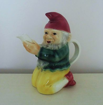 Vintage Gnome Porcelain Teapot Tea Pot German Germany Figural