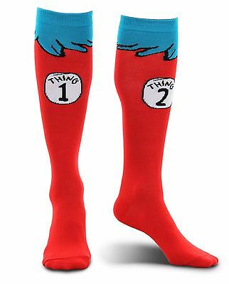 Dr. Seuss Cat In The Hat Thing 1 & 2 Adult Costume Socks By Elope